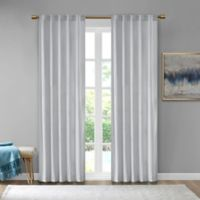 510 Design Colt Velvet 63-Inch Rod Pocket Room Darkening Window Curtain Panel Pair in Light Grey