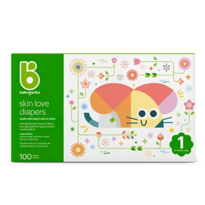 Babyganics 100-Count Size 1 Ultra Absorbent Diapers