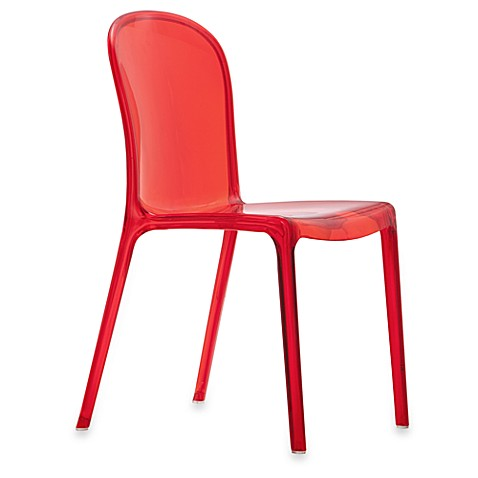 Zuo Gumdrop Dining Chairs in Transparent Red (Set of 4)