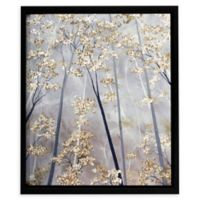 ArtWall Taupe Forest 24-Inch x 24-Inch Framed Canvas Wall Art