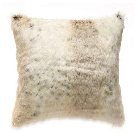 Faux Fur Toss Pillow in Leopard