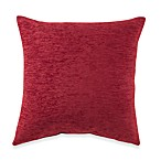 Crown Chenille Throw Pillow in Red (Set of 2)