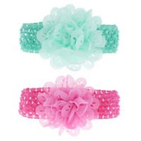 Capelli New York 2-Pack Eyelet Flower Headbands