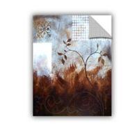 Herb Dickinson Splashy Umber 14-Inch x 18-Inch Vinyl Wall Decal
