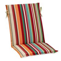 Stripe Sling Back Indoor/Outdoor Cushion in Red