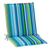 Stripe Indoor/Outdoor Folding Sling Chair Cushion in Ocean