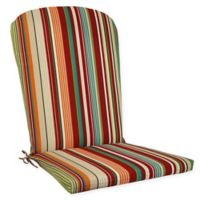 Stripe Outdoor Aluminum Adirondack Chair Cushion in Tahoe
