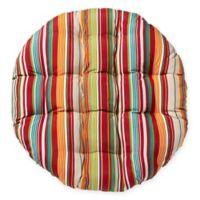 Stripe Indoor/Outdoor Papasan Cushion in Tahoe