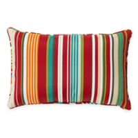 Stripe 13-Inch x 20-Inch Oblong Indoor/Outdoor Throw Pillow in Red