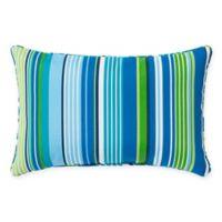 Stripe 13-Inch x 20-Inch Oblong Indoor/Outdoor Throw Pillow in Ocean