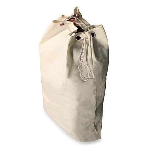 Heavy Duty Natural Canvas Laundry Bag Bed Bath Amp Beyond
