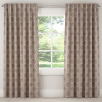 Damask 108-Inch Rod Pocket/Back Tab Window Curtain Panel in Grey