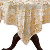 Saro Lifestyle Bottega Foil 52-Inch Square Tablecloth in Gold