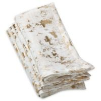 Saro Lifestyle Bottega Foil Napkins in Gold (Set of 4)
