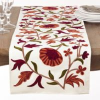 Saro Lifestyle Giada 72-Inch Table Runner in Ivory