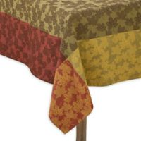 Saro Lifestyle Foliage 70-Inch Square Tablecloth in Green