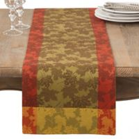 Saro Lifestyle Foliage 72-Inch Table Runner in Green