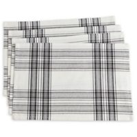 Saro Lifestyle Barry Placemats in Black (Set of 4)