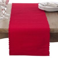 Saro Lifestyle Franboler 72-Inch Table Runner in Red