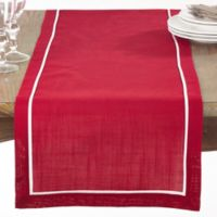 Saro Lifestyle Clancy Classic 70-Inch Table Runner in Red