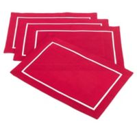 Saro Lifestyle Clancy Classic Placemats in Red (Set of 4)