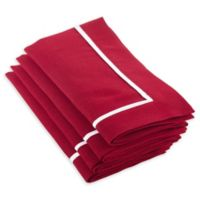 Saro Lifestyle Clancy Classic Napkins in Red (Set of 4)