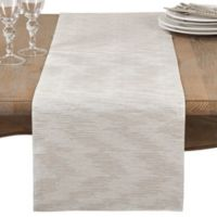 Saro Lifestyle Evelina 68-Inch Table Runner in Silver
