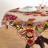 Saro Lifestyle Alessandra 54-Inch Square Multicolored Tablecloth