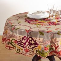 Saro Lifestyle Alessandra 72-Inch Round Multicolored Tablecloth
