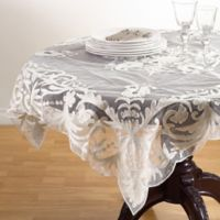 Saro Lifestyle Alessandra 54-Inch Square Tablecloth in Ivory