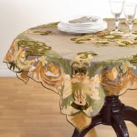 Saro Lifestyle Alessandra 54-Inch Square Tablecloth in Green