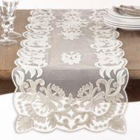Saro Lifestyle Alessandra 72-Inch Table Runner in Ivory
