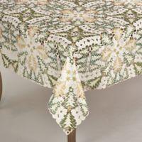Saro Lifestyle Panettone 67-Inch Square Tablecloth in White