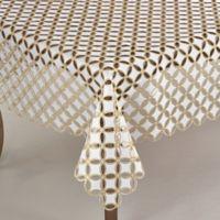 Saro Lifestyle Buche de Noel 84-Inch Square Tablecloth in Gold