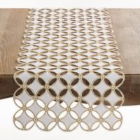 Saro Lifestyle Buche de Noel Table Runner in Gold
