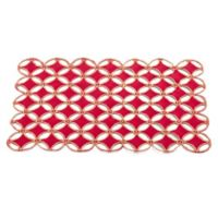 Saro Lifestyle Buche de Noel Placemats in Red (Set of 4)