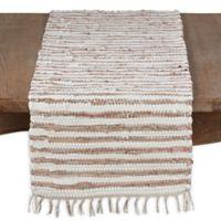 Saro Lifestyle Les Fetes Chindi Table Runner in Gold