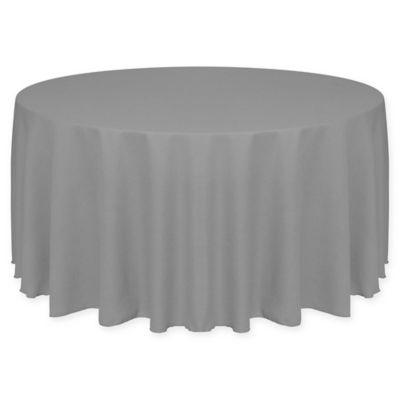 Havana 72 Inch Round Tablecloth In Charcoal Grey