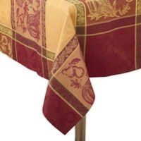 Saro Lifestyle Thanksgiving Jacquard 72-Inch x 144-Inch Oblong Tablecloth in Red