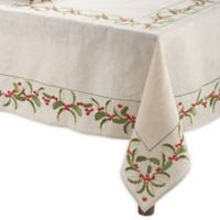 Saro Lifestyle Holly 65-Inch x 120-Inch Oblong Table Cloth