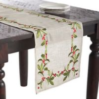 Saro Lifestyle Holly 68-Inch Table Runner