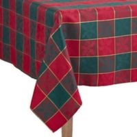 Saro Lifestyle Royal Plaid 65-Inch x 120-Inch Oblong Tablecloth in Red/Green