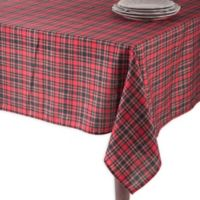 Saro Lifestyle Highland 72-Inch Square Oblong Tablecloth in Red
