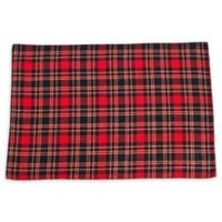Saro Lifestyle Highland Placemats in Red (Set of 4)
