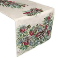 Laurel Home® Winter Garland 72-Inch Table Runner