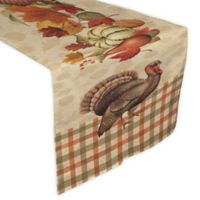 Laural Home Bountiful Harvest 90-Inch Table Runner in Orange