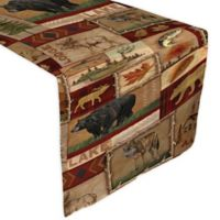 Laural Home® Lodge Collage 72-Inch Table Runner in Brown