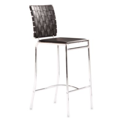 Zuo® Modern Criss Cross Counter Chair in Black (Set of 2)