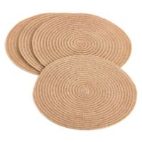 Saro Lifestyle Jute Fine Weave Placemats in Natural (Set of 4)