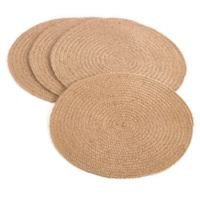 Saro Lifestyle Jute Dense Weave Placemats in Natural (Set of 4)